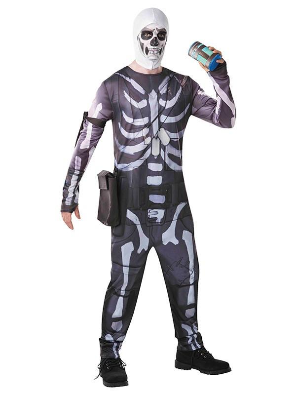 Disfraz de Fornite Skull Trooper adulto
