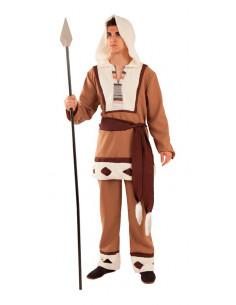 Disfraz esquimal marrón para adulto  Modelo-Único Tallas-L