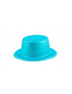 Chistera escarchada azul