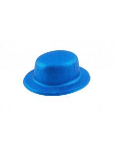 Bombín escarchado azul