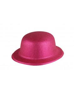 Bombín con acabado escarchado infantil rosa