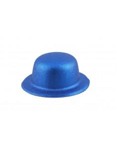 Bombín con acabado escarchado infantil azul