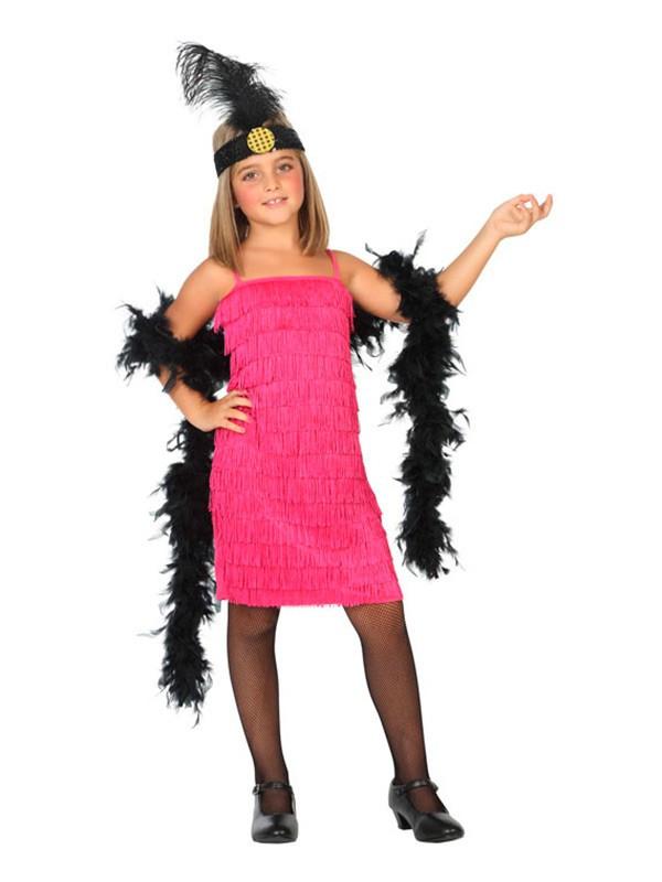 Vestido Charleston Fucsia Infantil