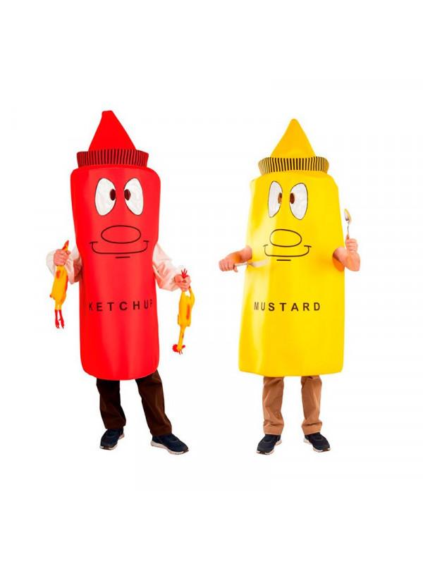 Disfraz en pareja de Ketchup y mostaza