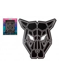 Máscara pantera negra con luz