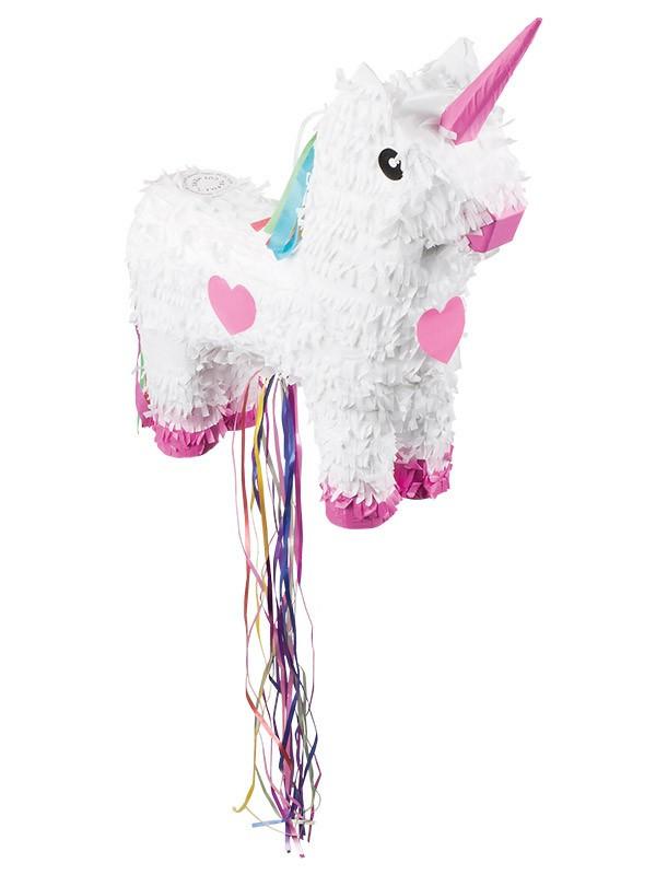 Piñata unicornio blanco