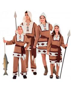 Disfraz en Grupo de Esquimales