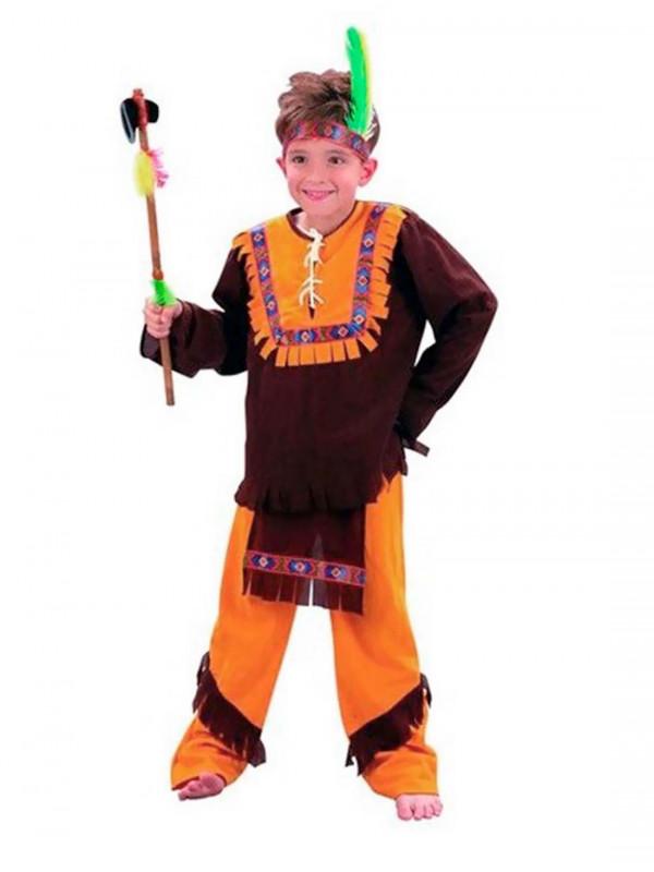 Disfraz indio marrón infantil
