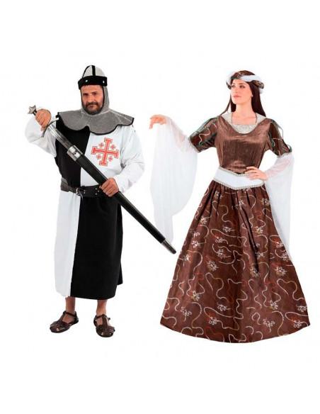 Disfraces de caballero y doncella Medieval para Parejas