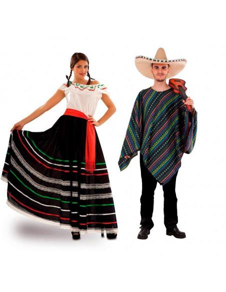 Disfraz en pareja de Mexicanos