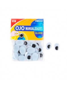 Ojos móviles ovalados 14x18mm