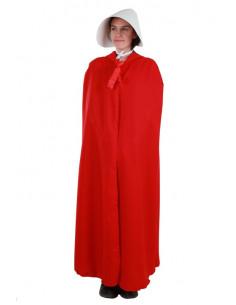 Capa larga roja frontal