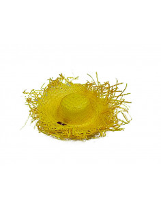 Sombrero deshilachado colores amarillo