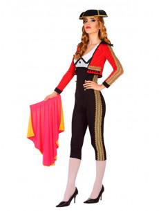 Disfraz torera roja para mujer