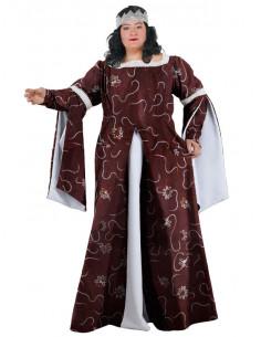 Disfraz de medieval mujer XXL