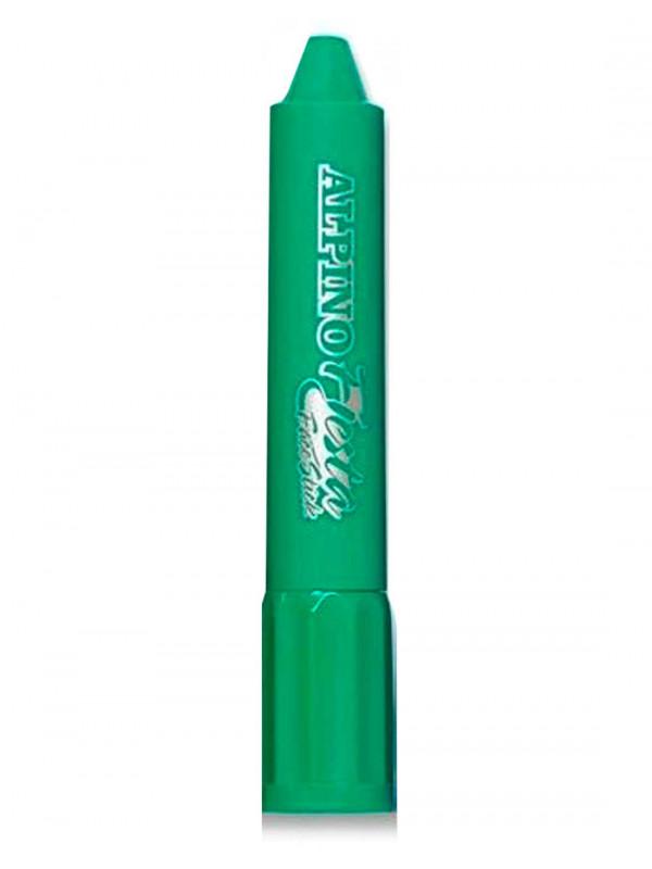 Barra maquillaje verde con aplicador