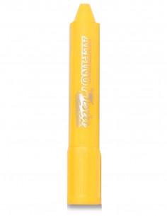 Barra maquillaje amarilla con aplicador
