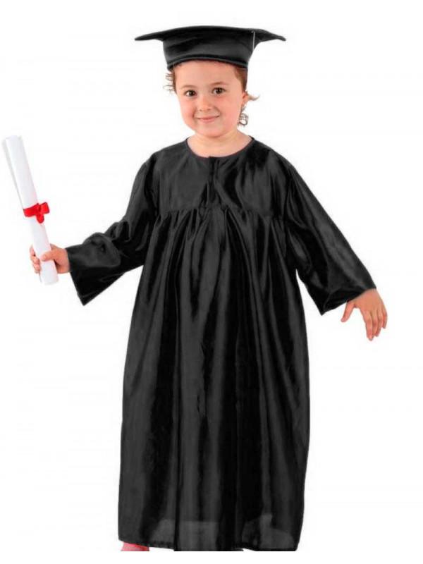 Toga graduación infantil negra