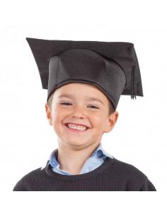 Birrete graduado infantil negro