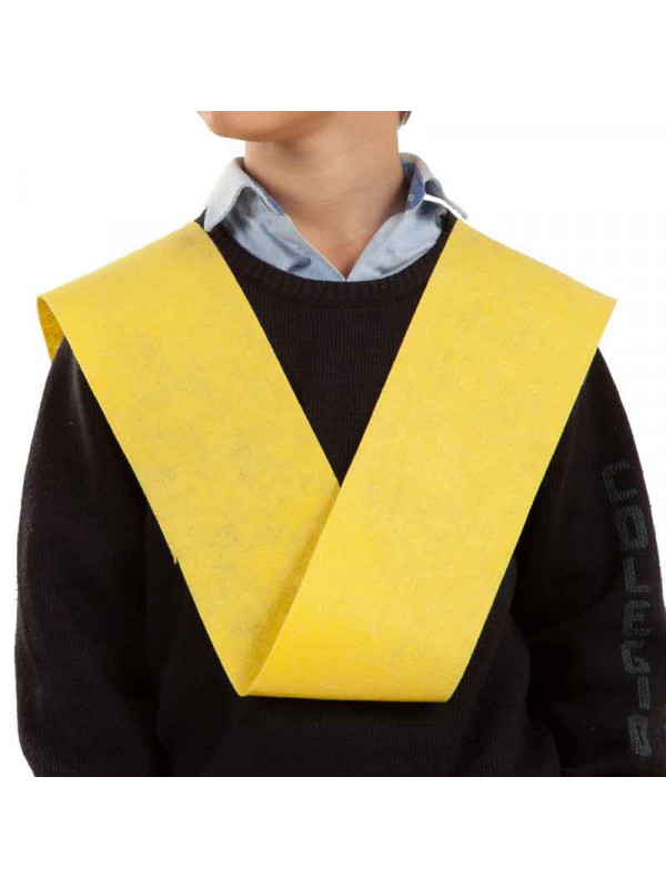 Banda de graduación amarilla canario