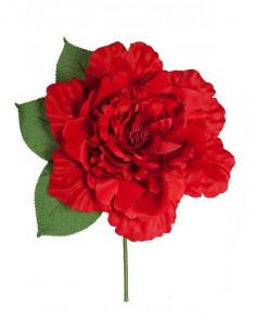 Flor flamenca grande roja