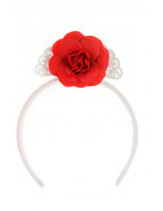 Flor flamenca para bebé roja
