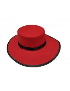 Sombrero cordobés rojo
