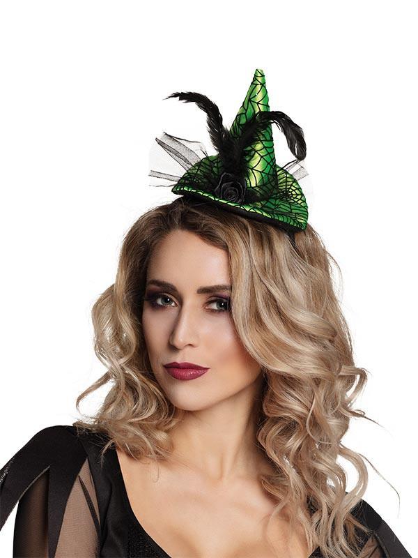 dc98c28f6 Mini sombrero de bruja telaraña