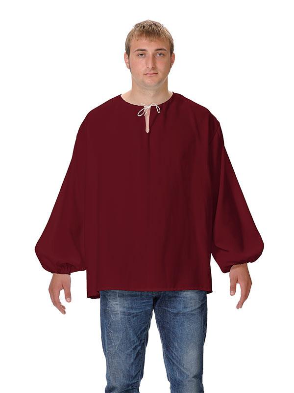 Camisas medievales de mesonero granate