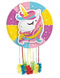 Piñata unicornio arcoiris