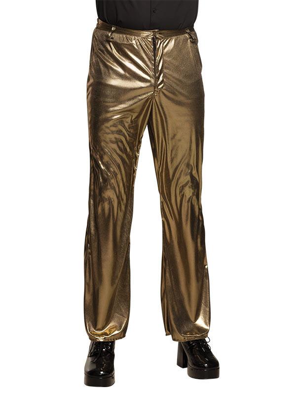 Pantalon Metalizado Disco Para Hombre Compra En Disfraces Bacanal