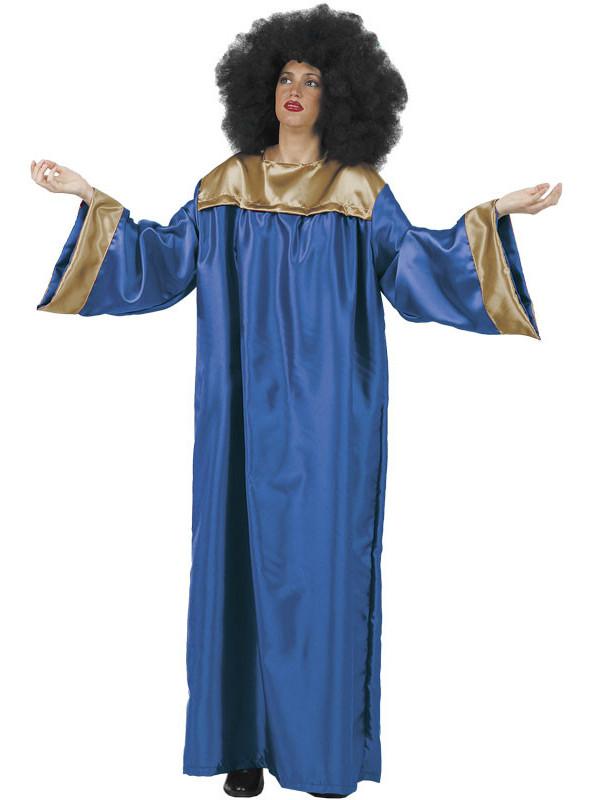 Disfraces de gospel adulto azul
