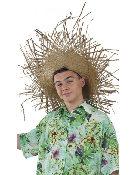 Sombrero de paja deshilachado
