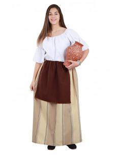 Falda campesina medieval mujer