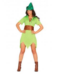 Disfraz Arquera de los bosques mujer