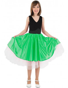 Falda Olivia niña verde
