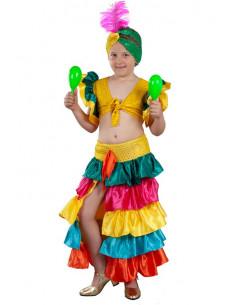 Disfraz Rumbera de colores niña