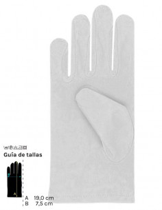 Guantes colores cortos infantil blanco