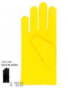 Guantes cortos colores adulto amarillo