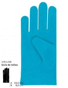 Guantes cortos colores adulto turquesa