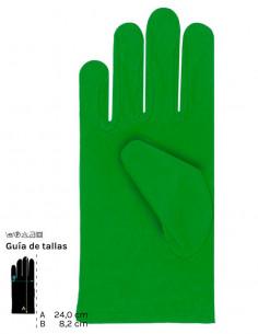 Guantes cortos colores adulto verde
