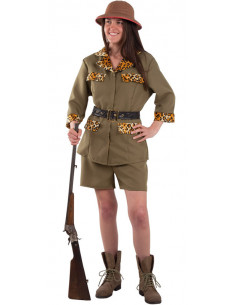Disfraz exploradora safari mujer