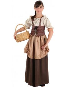 Traje medieval hortelana para niña  Tallas-12 años