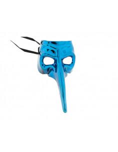Antifaz veneciano narigudo azul