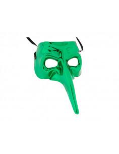 Antifaz veneciano narigudo verde