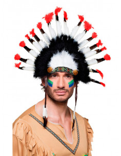 Penacho indio plumas