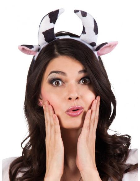 Diadema cuernos de vaca mujer
