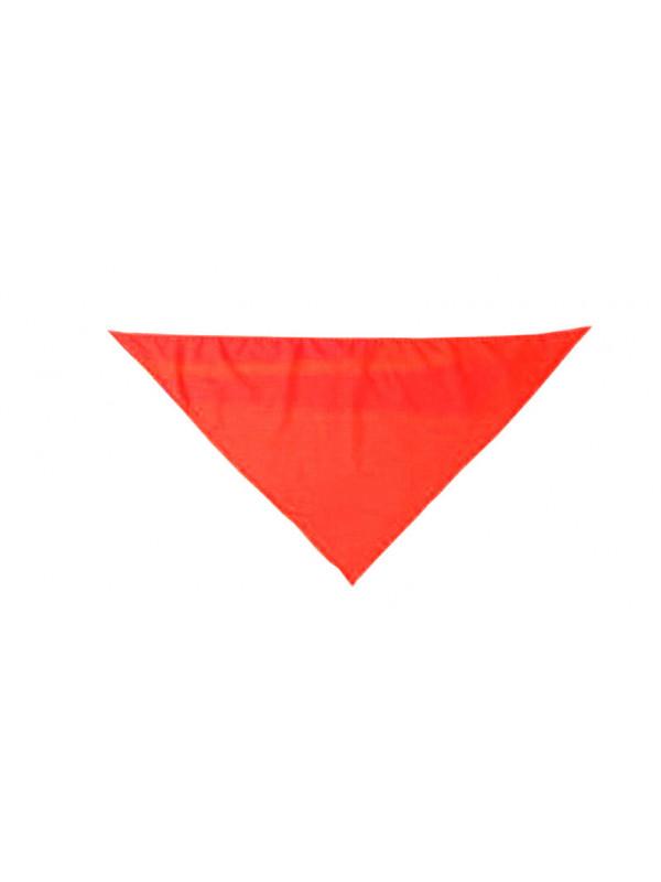 Pañuelo triangular para el cuello rojo