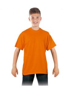 Camiseta infantil naranja
