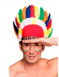 Penacho indio de colores